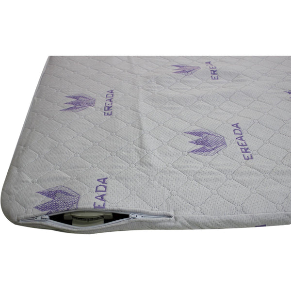 "Thick Cushioning Protector with 3-D Air Mesh Pad for Queen FIR Mats 59""x75"""