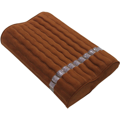 "Ereada Amethyst Pillow 19""L x 12""W x 3.3""H Rich Brown FIRM"