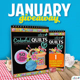 JANUARY 2020 COLORIT'S COLORFUL QUILTS COLORING BOOK GIVEAWAY