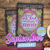September 2019 ColorIt's Colorful Scriptures Coloring Book Giveaway