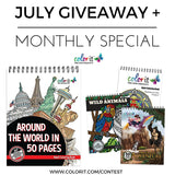 Each Day In July Win A Copy of Around The World In 50 Pages