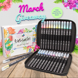 March 2019 Watercolor Brush Pens Giveaway