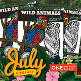 July 2019 Wild Animals Coloring Book
