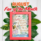 AUGUST 2020 FAN OF THE MONTH CONTEST