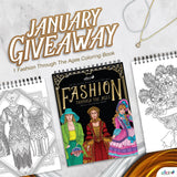 JANUARY 2021 FASHION THROUGH THE AGES COLORING BOOK GIVEAWAY