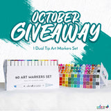 OCTOBER 2020 COLORIT'S 60 ART MARKERS SET GIVEAWAY