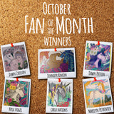 October Fan of the Month Winners
