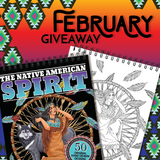 FEBRUARY 2020 COLORIT'S NATIVE AMERICAN SPIRIT COLORING BOOK GIVEAWAY