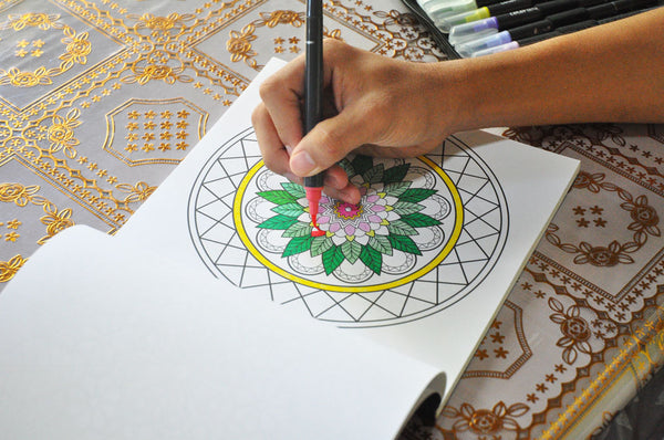 the art of mandala colored page