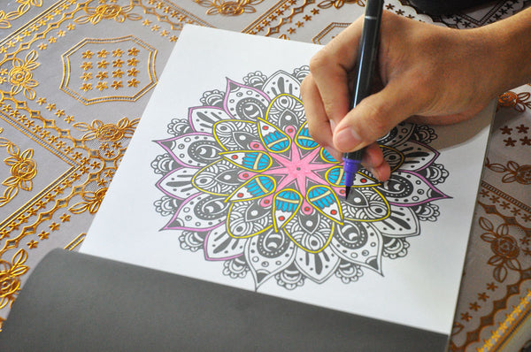 100 mandalas open colored page