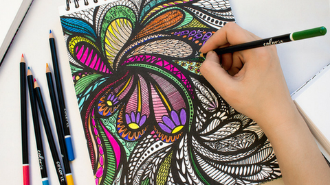 ColorIt Coloring Books Calming Doodles Page