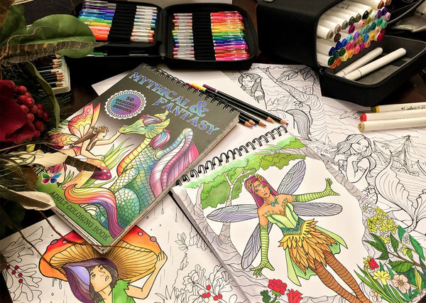 Mythical and Fantasy Adult Coloring Book