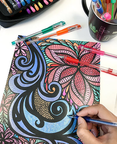 ColorIt Coloring Books Calming Doodles Vol 1