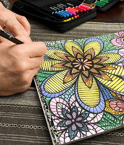 How To Blend and Shade With Colored Pencils For Adult Coloring Books ...