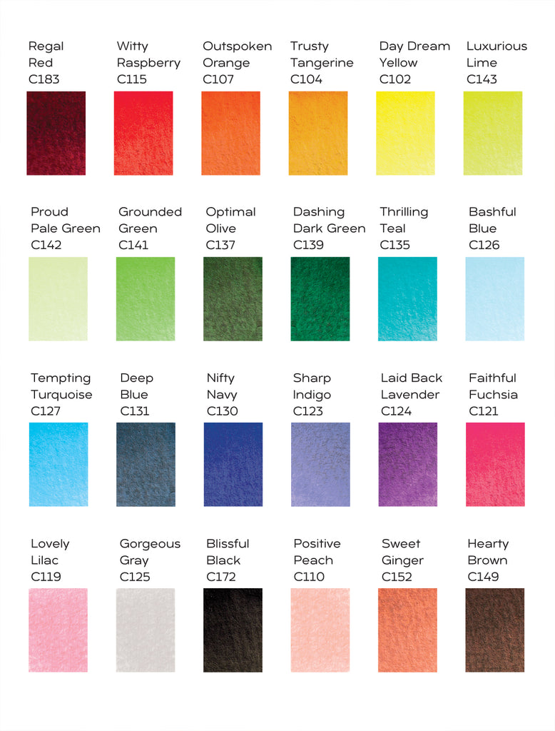 ColorIt Watercolor Brush Color Chart