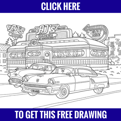 Free Diner Drawing