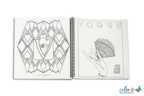 american vogue coloring page