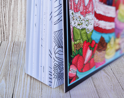 colorit adult coloring book hard front and back cover
