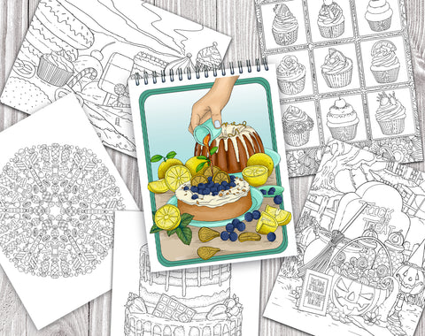colorit delicious desserts and sweet treats coloring book for adults