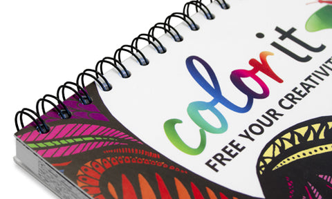 Stop Fighting To Keep Your Book Flat While You Color With Our Double Wire Spiral Binding Can Flip The Page Want And Lay