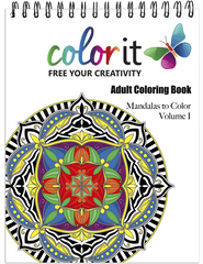 Mandalas Vol 1 Adult Coloring Book