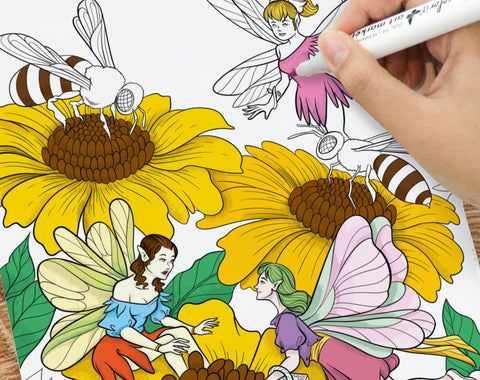 colorit artist quality paper for coloring fairies pages