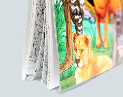 colorit colors of the jungle adult coloring book hard front and back cover