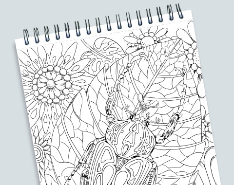 colorit colors of the jungle adult coloring book with perforated pages, wild animals coloring pages