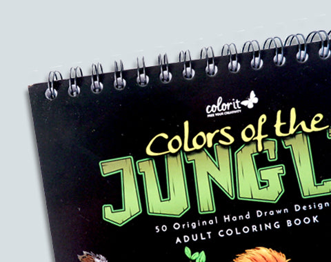 colorit colors of the jungle spiral bound coloring book for adults