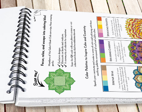 colorit mandalas to color volume 4 adult coloring book with bonus ink blotter page