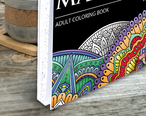 colorit mandalas to color volume 4 adult coloring book hard front and back cover