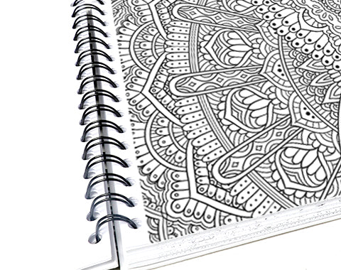 colorit mandalas to color volume 4 adult coloring book with perforated pages, classic and innovative mandalas page