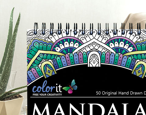 colorit mandalas to color volume 4 spiral bound coloring book for adults
