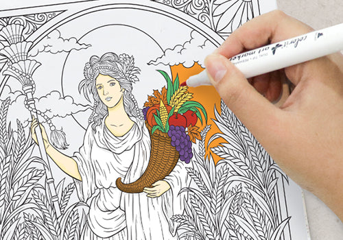 colorit goddesses adult coloring book, artist-quality paper