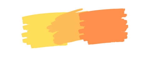 Three complementary colors: Yellow, Orange, and Ginger.