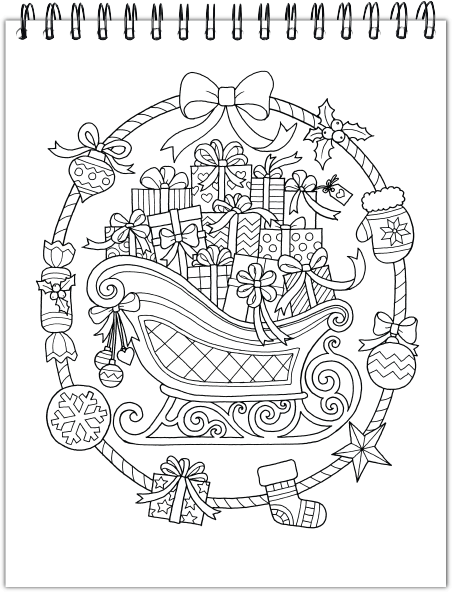 - Christmas Coloring Book: Hardback Covers & Artist Paper By ColorIt