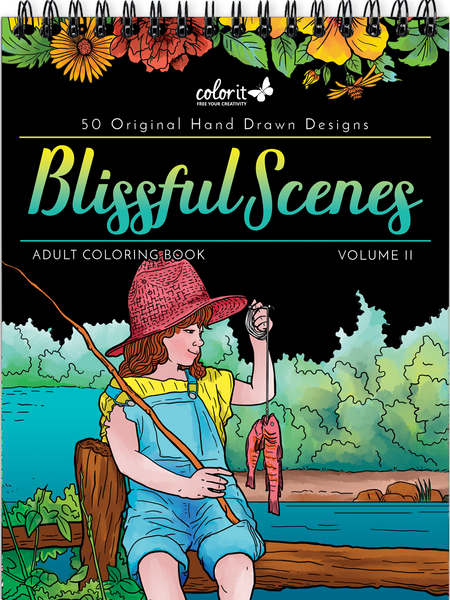 Blissful Scenes adult coloring book