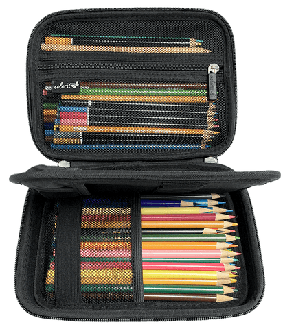 EVA Carrying Case for Multipurpose Pencils, Pens, or Markers - Black