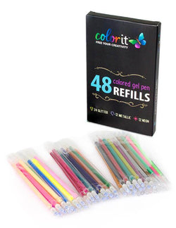 48 Colored Ink Refills For ColorIt Gel Pens