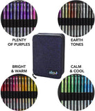 48 GLITTER Gel Pen Set, 48 Ink Refills, Travel Case & Gift Box