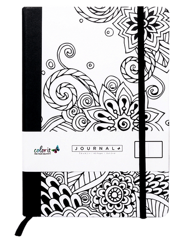 Tangle Doodles A5 Notebook Journal 160 Dot Grid Pages