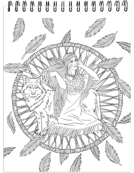 ColorIt: Native American Adult Coloring Book Of Dream Catchers, Tribal  Symbols And Mandalas, Animal Spirits And Landscapes