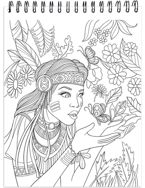 Colorit Native American Adult Coloring Book Of Dream Catchers Tribal Symbols And Mandalas Animal Spirits And Landscapes