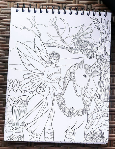 Colorful Unicorns Adult Coloring Book Illustrated By Terbit Basuki – ColorIt