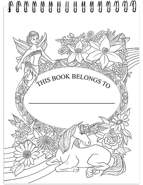 Colorful Unicorns Adult Coloring Book Illustrated By