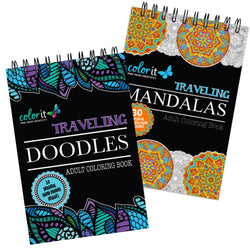 ColorIt On The Go Bundle - Traveling Doodles, Traveling Mandalas