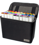 50 Color Dual Tip Art Markers with Premium Case