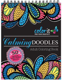 Calming Doodles Volume 1 Illustrated by Virginia Falkinburg