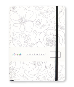 Fineline Flowers A5 Notebook Journal 160 Dot Grid Pages