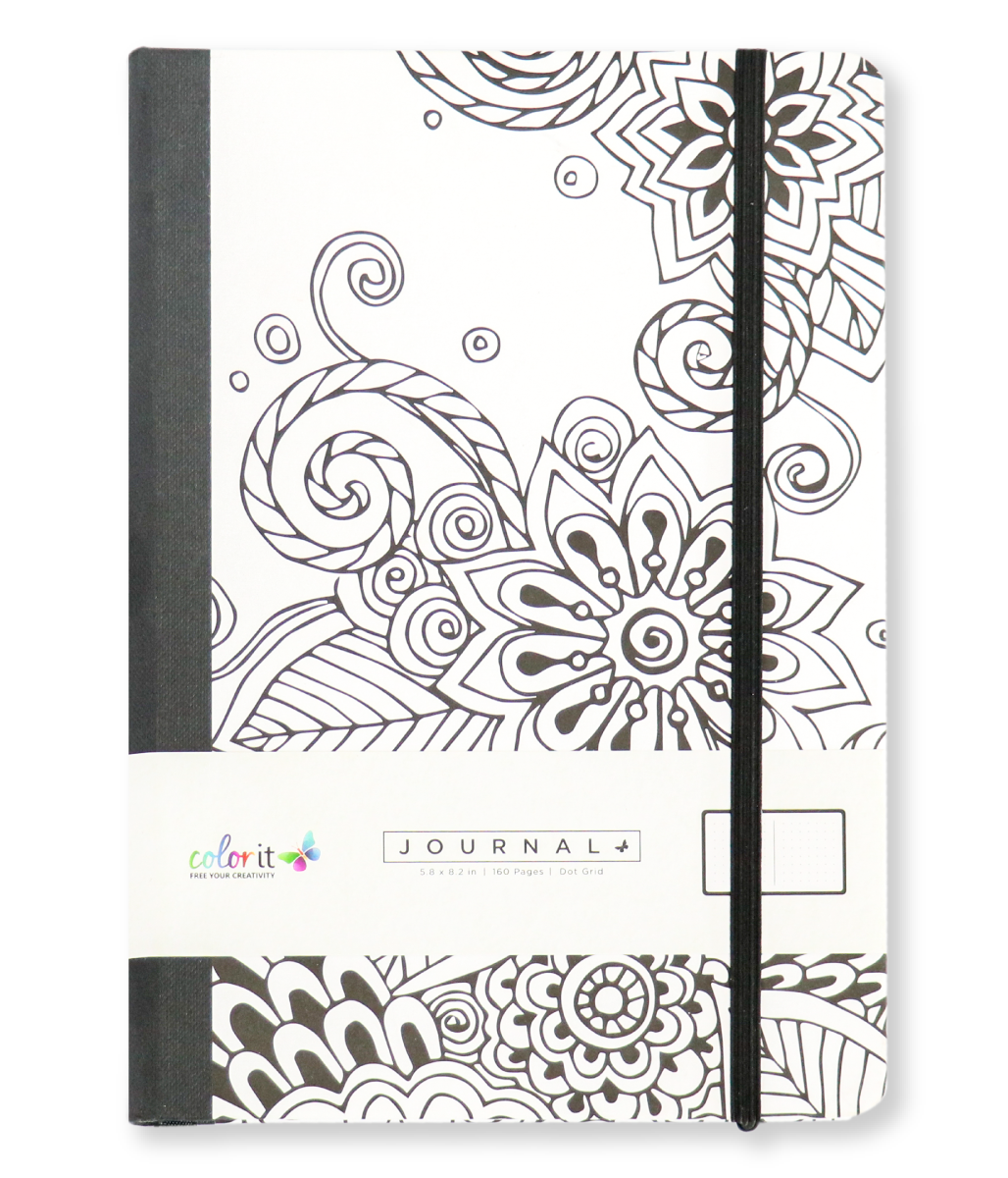 Tangle Doodles A5 Notebook Journal 320 Dot Grid Pages